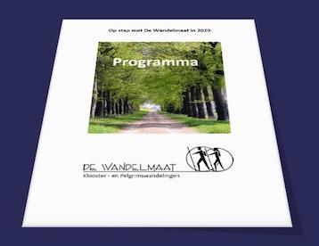Gedrukte brochure met aanbod in 2020
